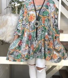 Laura oversized A-lijn jersey tuniek/jurk met zakken apart (extra groot)