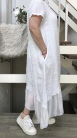 ITALIA oversized linnen/zijde   A-lijn jurk apart/in meerdere kleuren