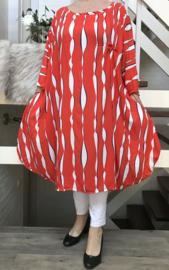 Ninka oversized A-lijn luchtige viscose jurk met zakken apart (extra groot)