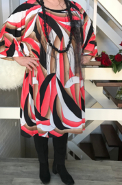 Belinda  oversized A-lijn jersey  jurk apart (extra groot)