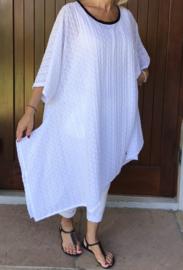 Layla oversized A-lijn jersey kanten  jurk/tuniek  apart (extra groot)
