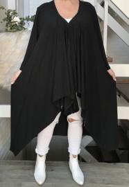 Naveed oversized  jersey A-lijn tuniek/blazer  apart zwart