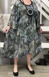 Laura oversized A-lijn chiffon jurk  met zakken  apart (extra groot)