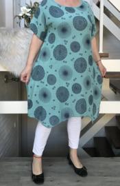 ITALIA luchtige katoen A-lijn  jurk