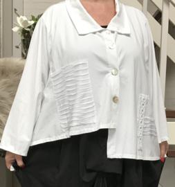 Moonshine oversized katoen vest met KANT stretch/in meerdere kleuren