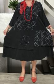 Moonshine katoen jersey  A-lijn jurk ( extra groot)/in meerdere kleuren