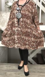 Frederica oversized A-lijn luchtige katoen tuniek met zakken apart (extra groot)