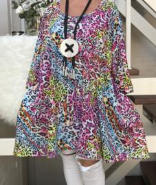 Taylor oversized A-lijn jersey tuniek/jurk met zakken apart (extra groot)