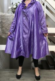 Gracia oversized A-lijn Taft blazer/vest met zakken  (extra groot)  apart