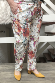 ITALIA stretch broek multicolor