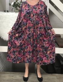 Jenny oversized A-lijn jersey jurk apart (extra groot)
