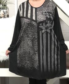 GEVENCE oversized jersey tuniek/jurk  ( extra groot)