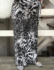 ITALIA jersey viscose broek apart animal-print