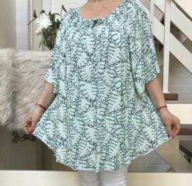 ITALIA viscose A-lijn blouse