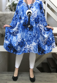 Marie oversized A-lijn jurk met zakken apart (extra groot) stretch