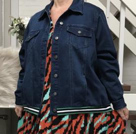 ITALIA jeans katoen korte blazer/jas stretch