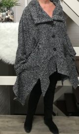 New Jersey oversized blazer/vest apart ( extra groot) grijs