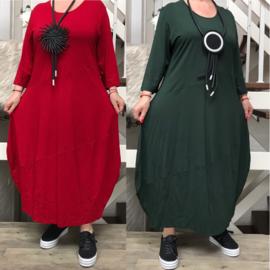 Vincenzo Allocca jersey viscose A-lijn jurk/in meerdere kleuren