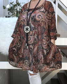 Felicia oversized A-lijn KANTEN jurk/tuniek apart (extra groot) stretch