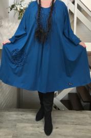 Dianna oversized A-lijn viscose jersey  jurk apart (extra groot)stretch