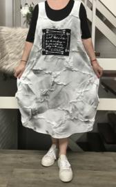 VIA VIA  de modieuze kleuring A- lijn viscose jurk + top