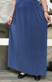 ITALIA rok met elastische tailleband blauw