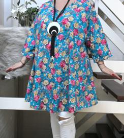 Greta oversized A-lijn katoen poplin tuniek/jurk met zakken apart (extra groot)