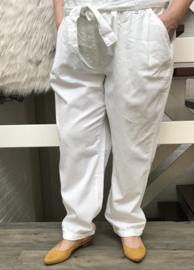 ITALIA katoen broek wit