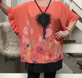 ITALIA oversized viscose blouse/top/in meerdere kleuren
