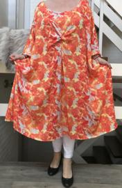 Carmen oversized A-lijn luchtige viscose jurk met zakken apart (extra groot)