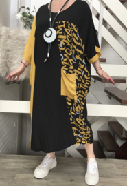 DARKWIN oversized viscose  jurk