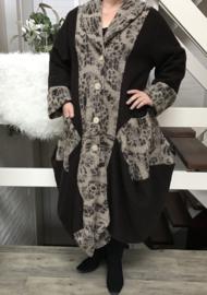 Moonshine wol gevoerde A-lijn mantel/ jas met capuchon