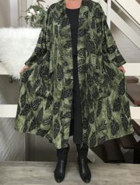 Milly oversized A-lijn jersey blazer/jas  (extra groot)  apart