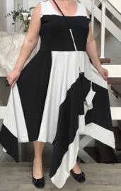 Boris jersey A-lijn asymmetrisch jurk met tas
