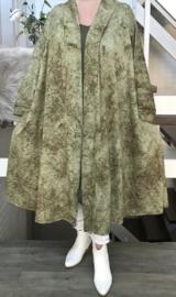 Lorie oversized A-lijn jersey blazer/vest  (extra groot)  apart stretch