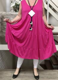 ITALIA MODE viscose  A-lijn jurk (extra groot) stretch  /in meerdere kleuren