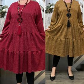 ITALIA viscose jersey A-lijn jurk stretch/in meerdere kleuren