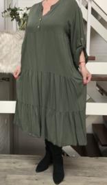 ITALIA MODE viscose A-lijn jurk/in meerdere kleuren