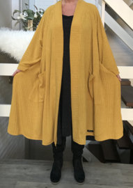 Josephine oversized A-lijn jersey blazer/jas  (extra groot)  apart