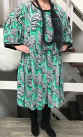 Grace oversized A-lijn jersey jurk apart (extra groot)