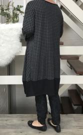 Vincenzo Allocca viscose jurk/tuniek zwart/grijs