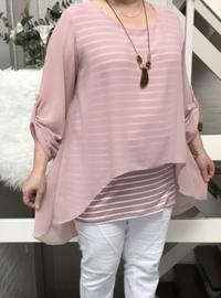 ITALIA MODA A-lijn blouse gevoerd met ketting   /in meerdere kleuren