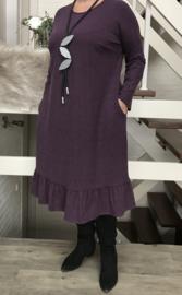 ANGORA jersey viscose A-lijn jurk met zakken stretch /in meerdere kleuren