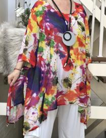 SINNE design.. A-lijn chiffon tuniek blouse