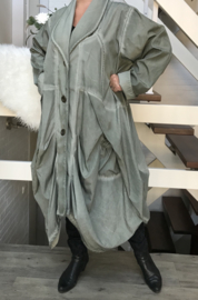 Moonshine  waterdicht A-Lijn jas/blazer ( extra groot) legergroen