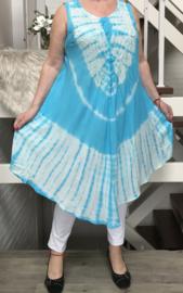 Lola viscose geverfde asymmetrisch A-lijn jurk