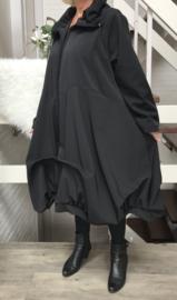 Moonshine gevoerde mantel/jas  ( extra groot) zwart