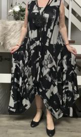 Naveed jersey asymmetrisch A-lijn jurk apart/ in meerdere kleuren