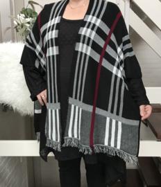 ITALIA  gebreid superzacht sjaal/poncho
