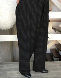 ITALIA jersey strepen broek apart (extra groot) STRETCH